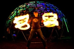 Image from Trend Hunter - Interactive Dancing Domes